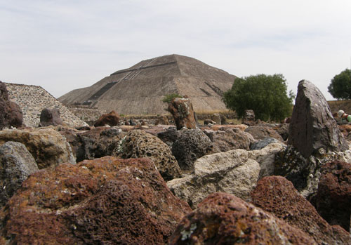 Teotihuacan: View of Temple of the Sun