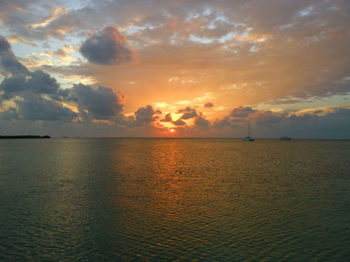 Caye Caulker, Belize - sunset number 3