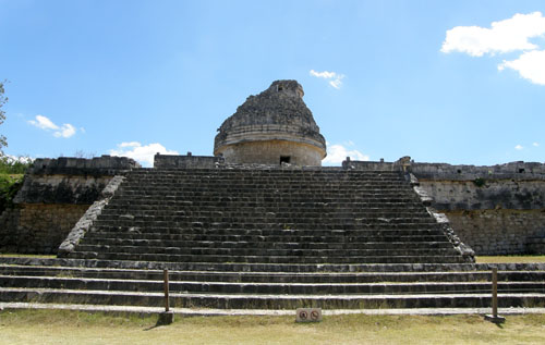 Chichen-Itza, Mexico - the Observatory in Old Chichen