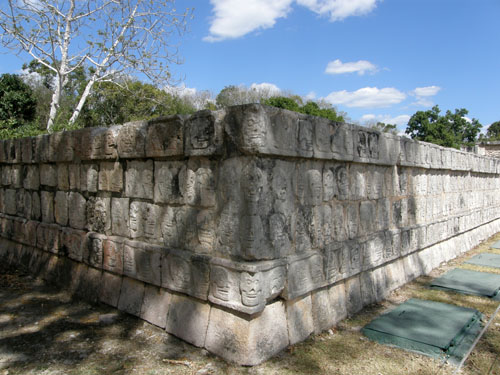 Chichen-Itza, Mexico - the Platform of the Skulls