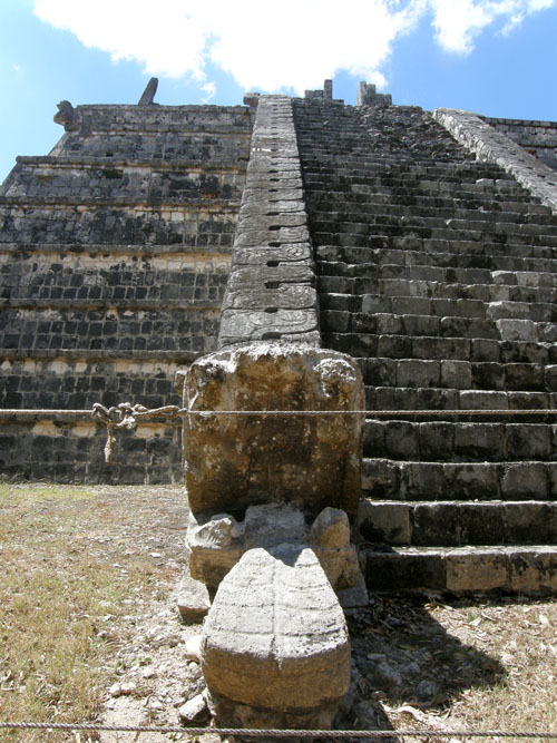 Chichen-Itza, Mexico - tomb of the High Priest - jaguar's head