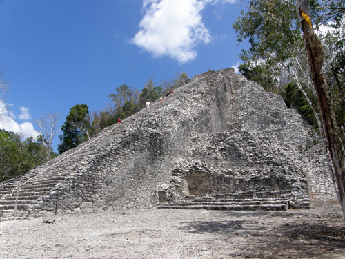 Coba ruins - The pyramid of Nohoch Mul group