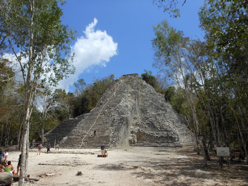 Coba, Mexico - the Pyramid in the Nohoch Mul Group