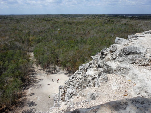 Coba, Mexico - view from the Pyramid in the Nohoch Mul Group