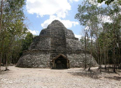 Coba ruins - one of the buildings in Nohoch Mul Group