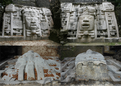 Lamanai, Belize - masks from a different view