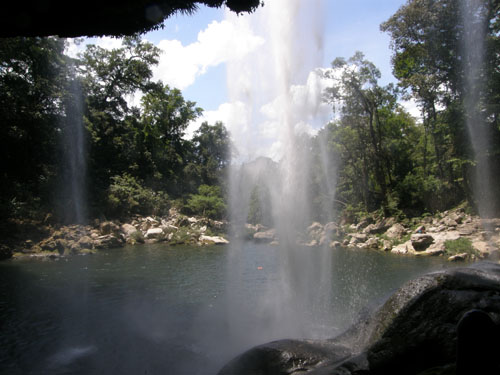 Misol Ha, Mexico - behind the waterfall