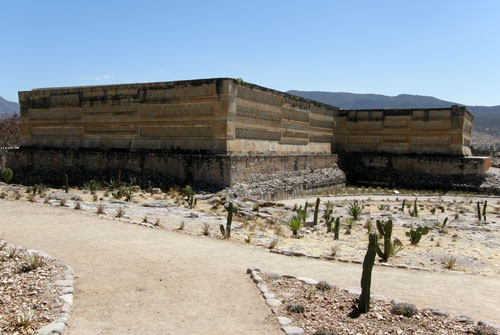 Mitla, Mexico - view of the site