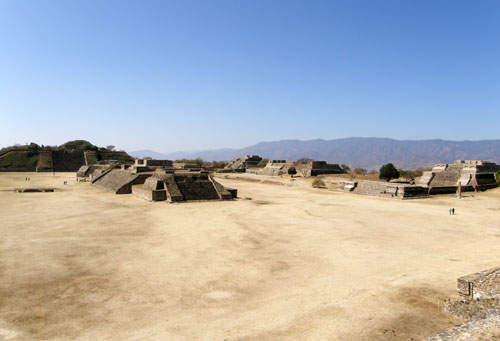 Monte Alban, Mexico - view of the site