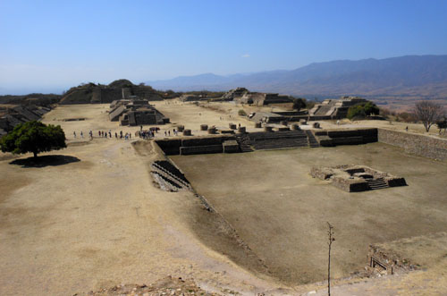 Monte Alban, Mexico - view from the Sunken Patio