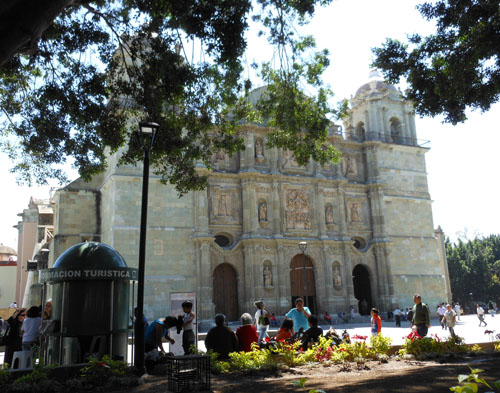 Oaxaca, Mexico - the cathedral near zocalo