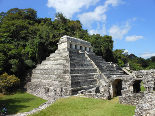 Palenque, Mexico - the Temple of Inscriptons from the Palace