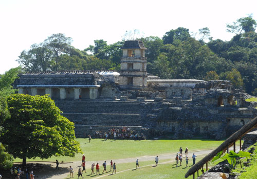 Palenque, Mexico - the Palace from the Temple of the Skull