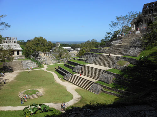 Palenque, Mexico - view from the Foliated Cross