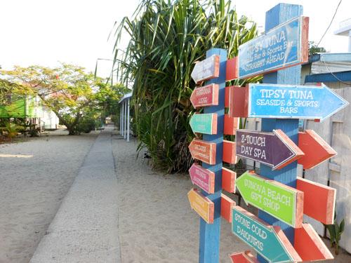 Sidewalk Directions - Placencia