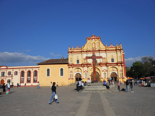 San Cristobal de Las Casas, Mexico - the cathedral near zocalo