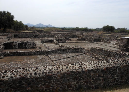 Teotihuacan, Mexico - remains of buildings