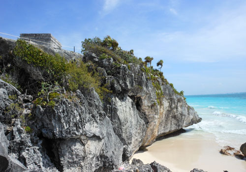 Tulum, Mexico - El Castillo on the cliff