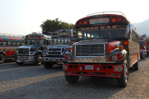 Antigua: chicken buses