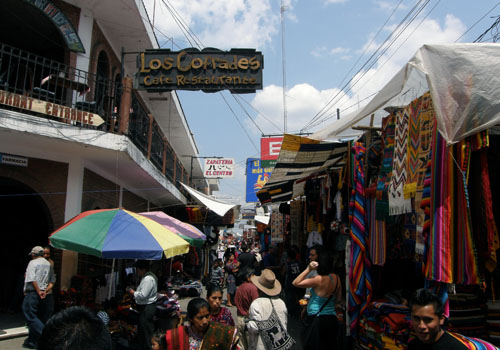 Chichicastenango market: one of the alleys