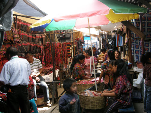 Chichicastenango market: stalls and products