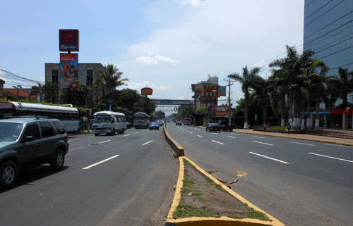 San Salvador business district