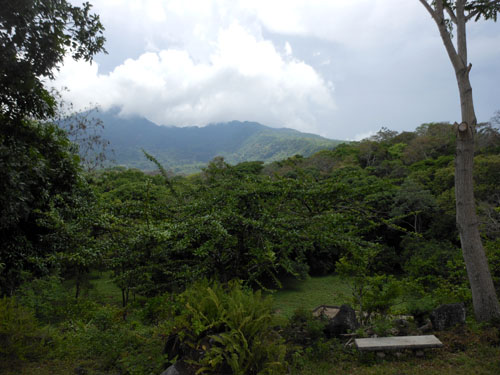 Cocoa tour: view of Mombacho volcano