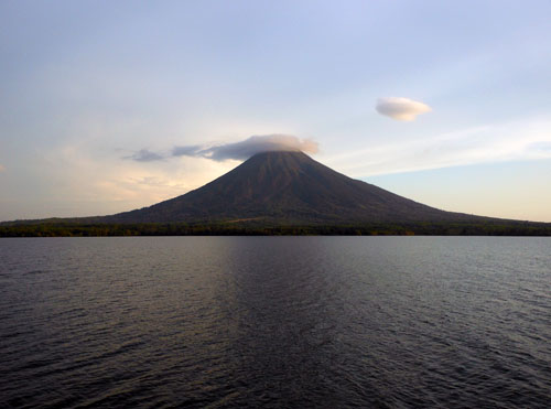 Lake Nicaragua: view of the Concepcion volcano