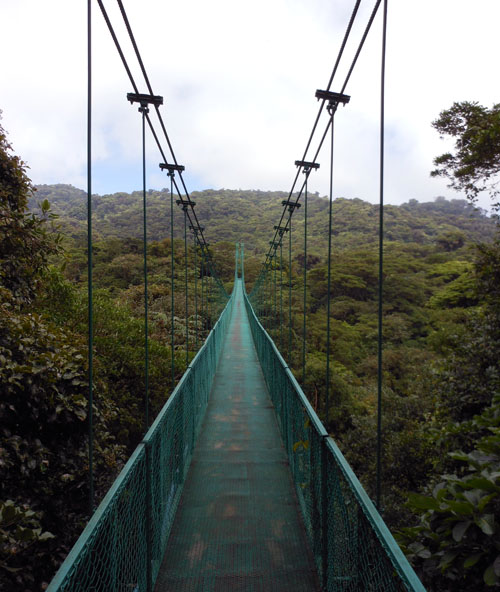 Longest suspension bridge in Santa Elena