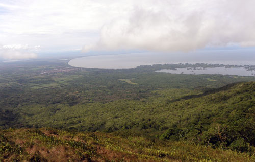 Mombacho volcano: view of Granada and Lake Nicaragua
