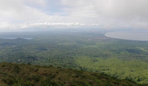 Mombacho volcano: view of Laguna de Apoyo, Granada and Lake Nicaragua
