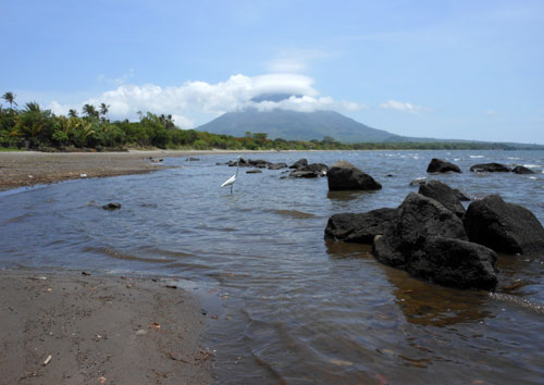 Ometepe Island: playa Santo Domingo near Santa Cruz