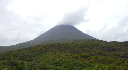 Reserva Mirador El Silencio: view of the Arenal