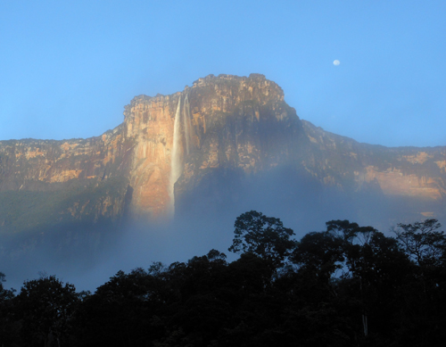 Canaima National Park Angel Falls at dawn