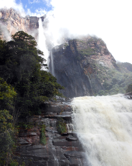 Canaima National Park Angel Falls from base