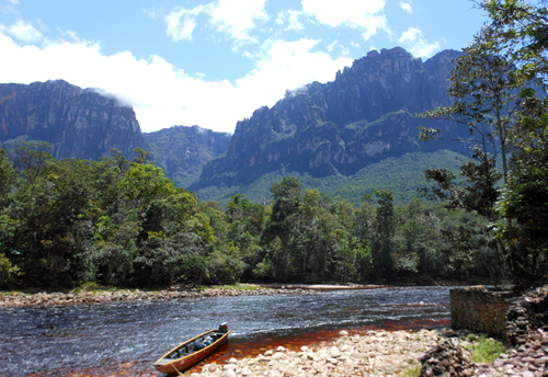 Canaima National Park river to Angel Falls from base camp