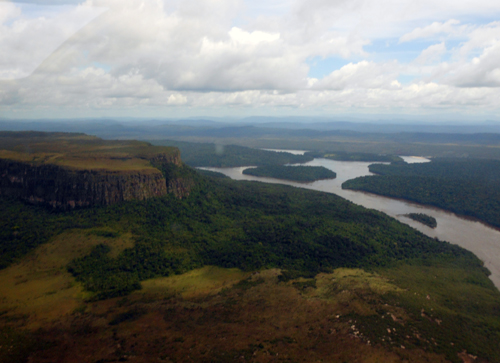 Canaima National Park view from plane