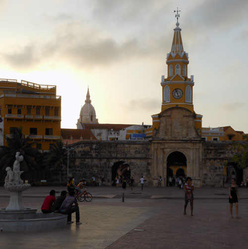 Cartagena: clock tower entrace