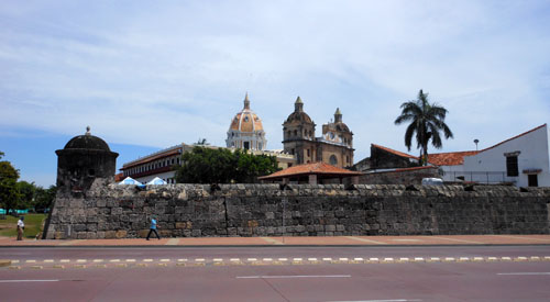 Cartagena: old city walls