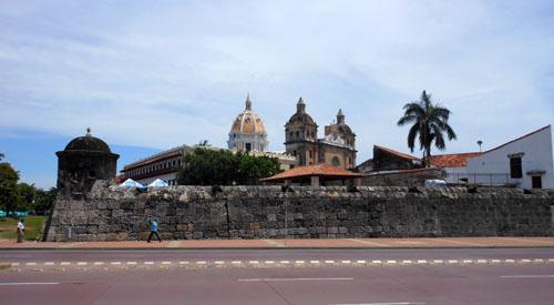 Cartagena: old city walls