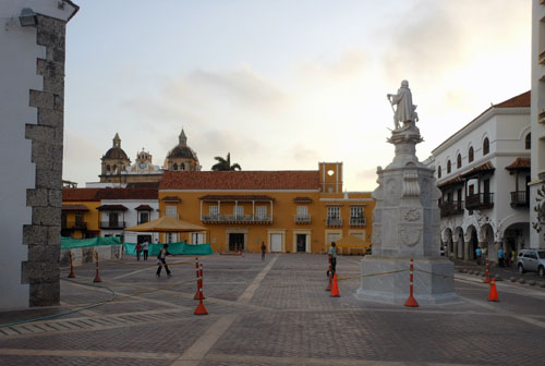 Colombia - Cartagena: San Pedro Claver church and plaza