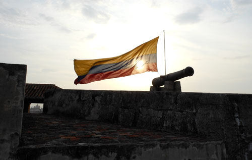 Colombia - Cartagena: the top of Castillo San Felipe de Barajas