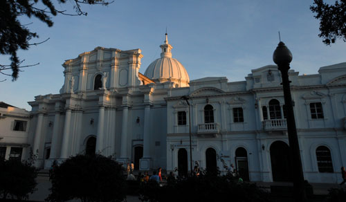 Colombia - Popayan: the cathedral