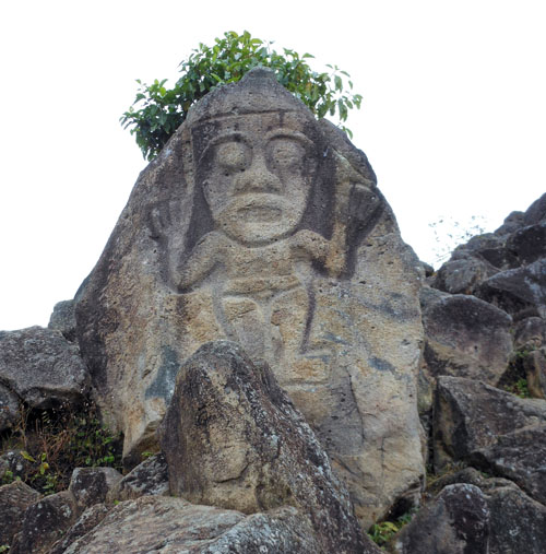 Colombia - San Agustin: rock carving at La Chaquira