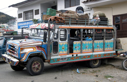 Colombia - Silvia: local bus