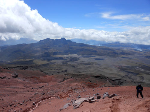 Cotopaxi National Park: panorama from the volcano at 5000m