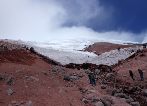 Cotopaxi National Park: reaching the glacier at 5000m