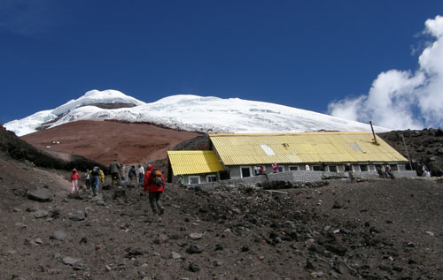 Cotopaxi National Park: reaching the refugio at 4800m