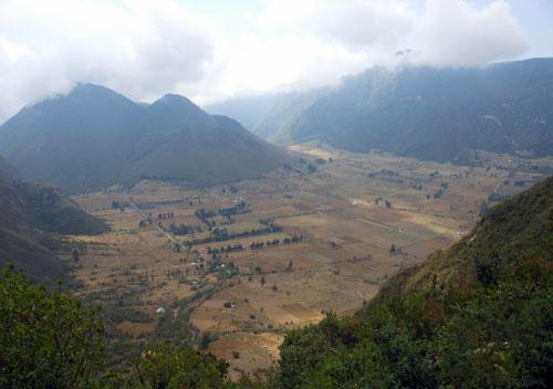 Crater Pululahua panorama