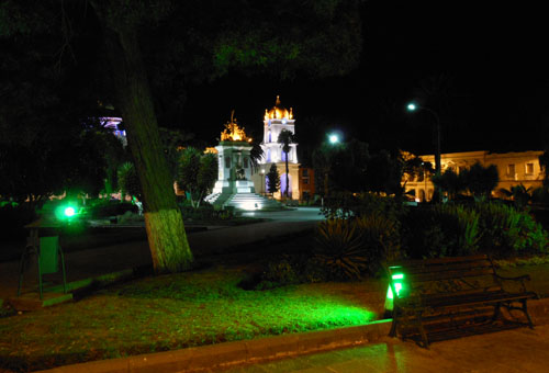 Latacunga - Parque Vincente Leon at night